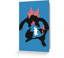 Totodile evolution chain Greeting Card