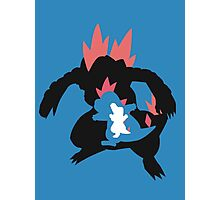 Totodile evolution chain Photographic Print