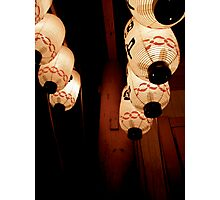 japanese lanterns IV Photographic Print