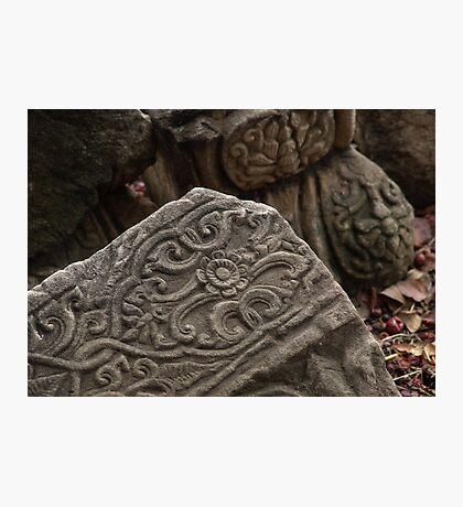 Ancient Stonework Photographic Print