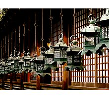 nara lanterns Photographic Print