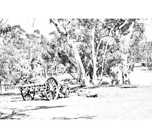 Old equipment sketched Photographic Print