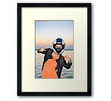 Fuck off Framed Print