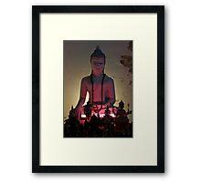 Neon Buddha Framed Print
