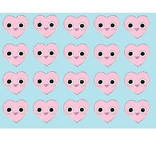 Cute Heart (pattern) Photographic Print