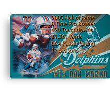 Dan Marino Career Stats  Canvas Print