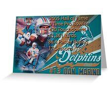 Dan Marino Career Stats  Greeting Card