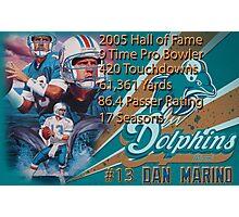 Dan Marino Career Stats  Photographic Print