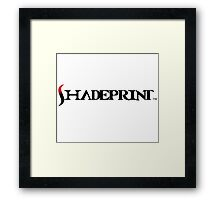 Shadprint Saturn Logo. Framed Print