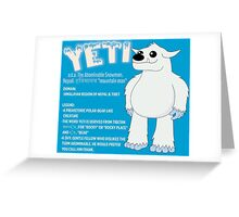 Yeti With Title Greeting Card