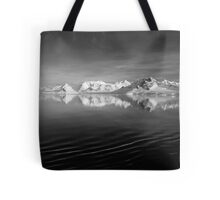 Sunset over the Neumayer Channel, Antarctica - Number three mono Tote Bag