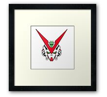 Gundam head - white Framed Print