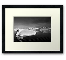 Sunset over the Neumayer Channel, Antarctica - Number four mono Framed Print