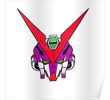 Gundam head - purple Poster