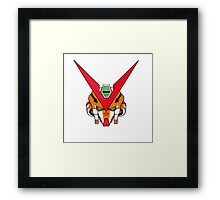 Gundam head - orange Framed Print