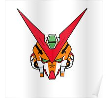 Gundam head - orange Poster