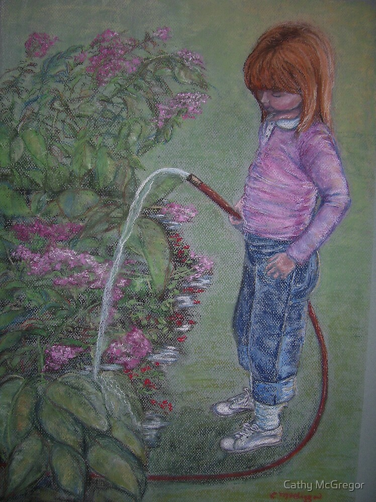 Watering the Flowers by Cathy McGregor