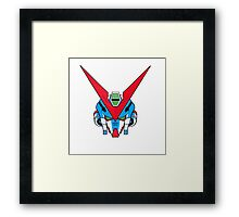 Gundam head - blue Framed Print