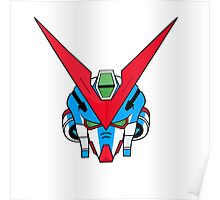 Gundam head - blue Poster