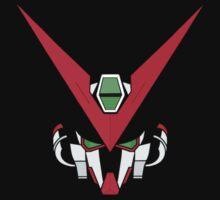 Gundam head - black Kids Tee