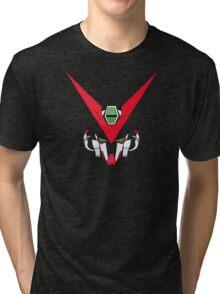 Gundam head - black Tri-blend T-Shirt