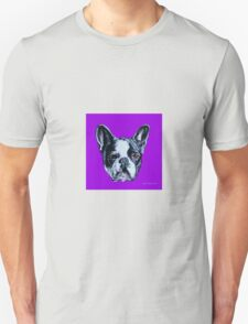 Francois the French Bulldog - Purple Unisex T-Shirt