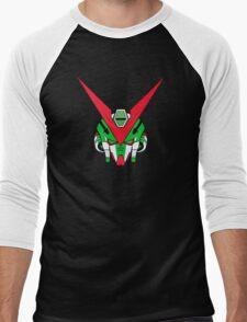Gundam head - Green Men's Baseball ¾ T-Shirt