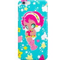 Cute funny girl with a heart pattern iPhone Case/Skin