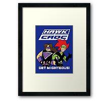Hawk & Crocdown v2 Framed Print