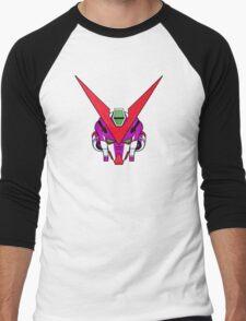 Gundam head - purple Men's Baseball ¾ T-Shirt