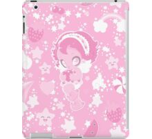 Cute funny girl with a heart pattern pink iPad Case/Skin