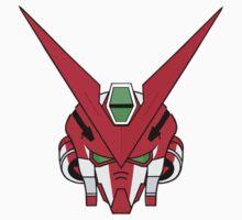 Gundam head - red Kids Tee