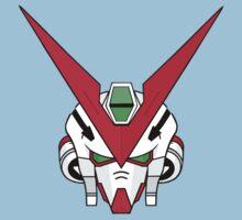 Gundam head - white Kids Tee