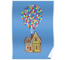Up House with Ballooons Poster