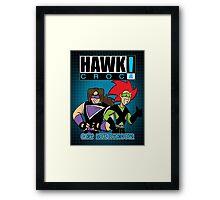 Hawk & Crocdown! - 1999 Framed Print