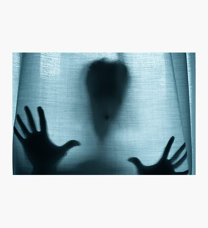 Figure behind a curtain Photographic Print