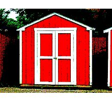 old red shed Photographic Print