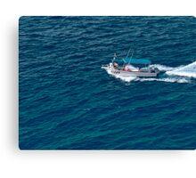Boat at Sea Canvas Print