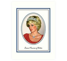 Diana Princess of Wales  Art Print
