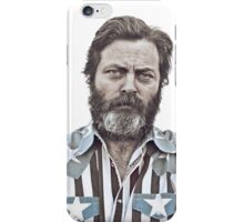 Ron Swanson (Nick Offerman) - An American Hero iPhone Case/Skin