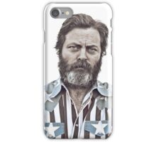 Ron Swanson (Nick Offerman) - An American Hero iPhone Case/Skin