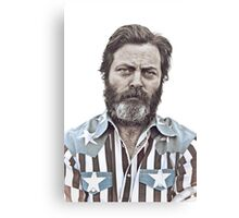 Ron Swanson (Nick Offerman) - An American Hero Canvas Print