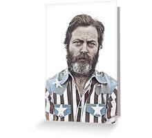 Ron Swanson (Nick Offerman) - An American Hero Greeting Card
