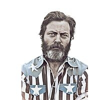 Ron Swanson (Nick Offerman) - An American Hero Photographic Print
