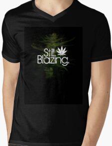 Still Blazing - Black Mens V-Neck T-Shirt