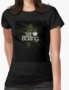 Still Blazing - Black Womens Fitted T-Shirt