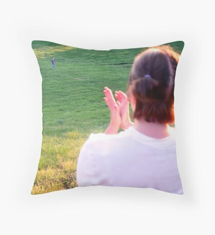 silently speaking Throw Pillow