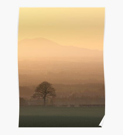 Pentland Hills at Sunset, Newtongrange Poster