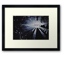 Fade into White Framed Print