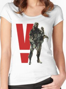 Metal Gear Solid V - Big Boss Women's Fitted Scoop T-Shirt